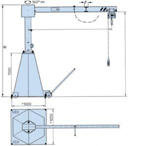 консольный передвижной кран