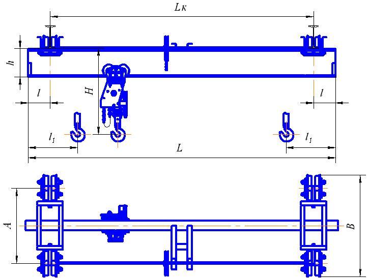 Кран мостовой подвесной 8 т